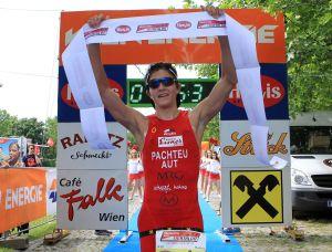 30.06.2015 Vienna City Triathlon 2015, Wien, Donauinsel Ziel Copyright DIENER / Eva Manhart