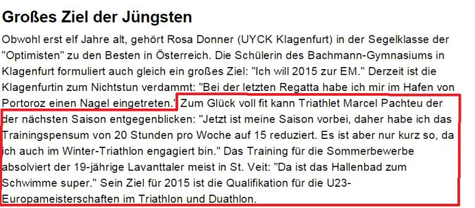 Bericht Oktober 2014 Kleine Zeitung
