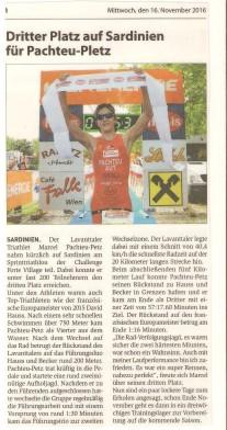 Challenge Forte Village Sprint 2016 Zeitung 001